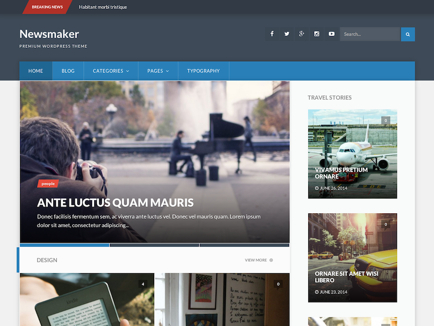 Newsmaker - Responsive WordPress Theme