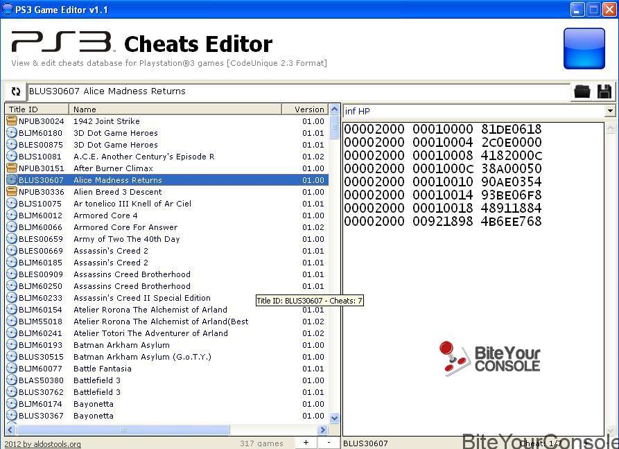 Cheats Editor