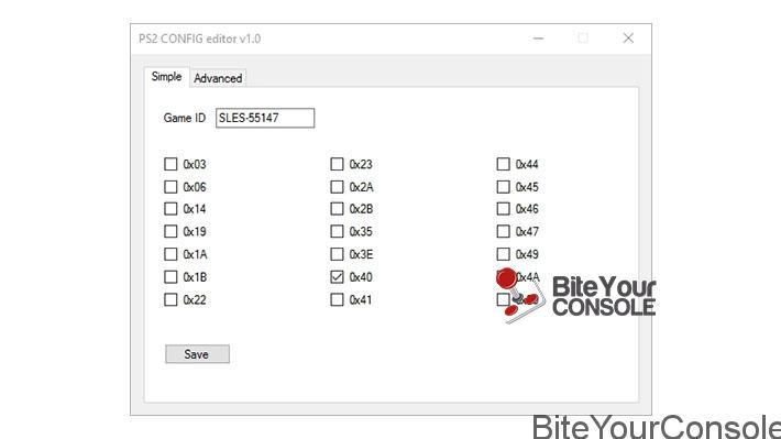 Rilasciato PS2 Config EditorBiteYourConsole
