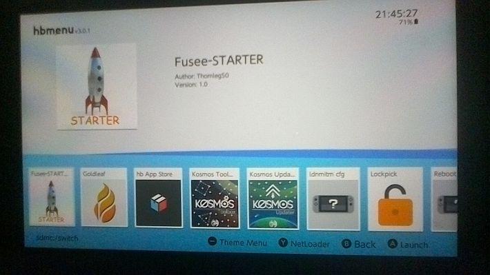 Scena Switch] Rilasciato Fusee-STARTER – Launcher payload per