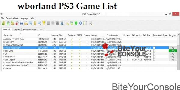 PS3 Game List