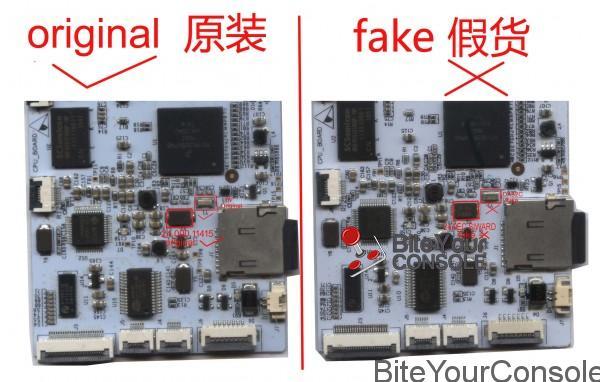 original and fake