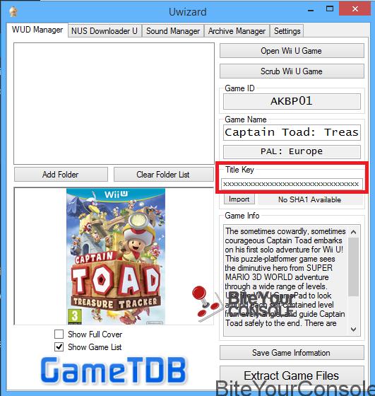 Guida Wii U] Come estrarre il contenuto dei file